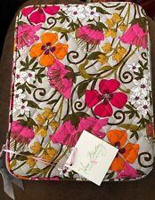 "Vera Bradley Ipad Tablet Zippered Sleeve Case - Tea Garden 8"" x 10"" Brand New"