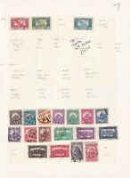 HUNGARY 1920's ALBUM PAGE OF 20 STAMPS