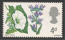 Great Britain #489 (A196) Vf Mnh - 1967 4p Morning-Glory and Viper's Bugloss