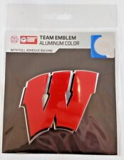 Wisconsin Badgers Color Team Emblem with Full Adhesive Backing Truck Car Sticker