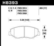 Hawk Disc Brake Pad Front for 89-16 Pontiac Sunfire & Acura ILX & Honda Accord