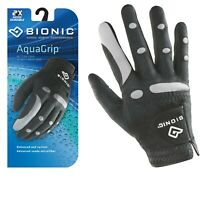 Bionic Golf Glove - AquaGrip - Mens Right Hand - Black - Wet Weather - Medium