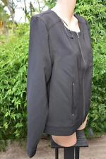 Katies Quality Black Jacket. Size 18. NEW.rrp $79.95 Zip Front Bomber Style.