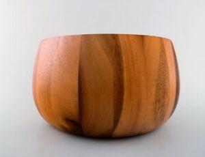 Jens Quistgaard for Digsmed large bowl of staved teak.