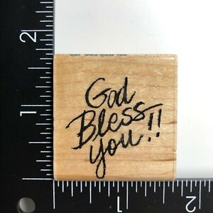 Stampendous God Bless You C67 Wood Mounted Rubber Stamp