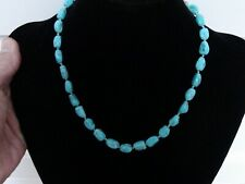 """Turquoise stones Necklace with 14kt Yellow clasp 19"""""""