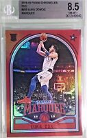 Luka Doncic 2018-19 Panini Chronicles Marquee Red Rookie BGS 8.5
