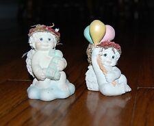 Lot of 2 Dreamsicle angel figurines 11151 Dc323 Birthday #1