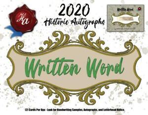 2020 HISTORIC AUTOGRAPHS WRITTEN WORD BASEBALL HOBBY BOX