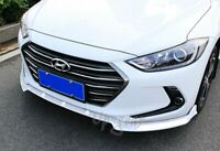 For 17-18 Hyundai Elantra Painted White 3PCS Front Bumper Body Kit Spoiler Lip