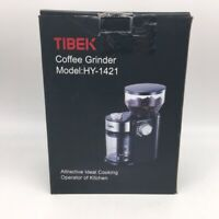 Tibek Coffee Grinder with Large Hopper Electric Burr Mill with 18 Options B NOB