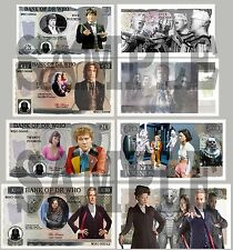 3RD SET OF 4 DR WHO / DOCTOR WHO DOUBLE SIDED FUN UK NOTES