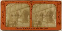Francia París Los Arcos Del Louvre Instantáneo Foto c1880 Diorama Estéreo