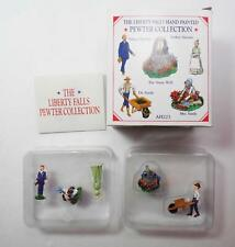 2000 Liberty Falls Ah223 Hand Painted Pewter Collection 5 Figurines - New