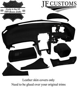 BLACK STITCH ITALIAN LEATHER COVERS FOR NISSAN 300ZX Z32 DASHBOARD RECOVERY KIT