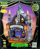 Lemax Spooky Town MORTIS THEATER Light Animation Sound Halloween Village C VIDEO