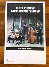 Old Crow Medicine Show Big Iron Tour Rare original promo poster 2006