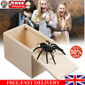 Funny Scare Box Spider Mouse Hidden in Case Prank-Wooden Joke Trick Play Toy UK~