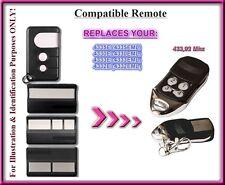 Liftmaster Chamberlain 4330E 4332E 4333E 4335E compatible remote control 433,92