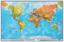 Tiger World Desk Mat School Office Pad Map Atlas Protective Mouse Earth Surface