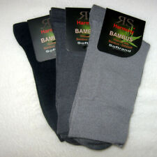 3 Pair Men Socks without Rubber With Soft Rim Bamboo Viscose Bamboo Socks Grey
