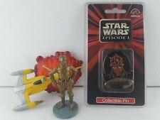 Star Wars Episode I Darth Maul Collectible Applause Pin + Magnet and C3PO mini