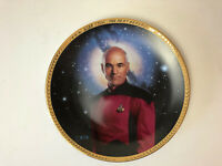 Star Trek The Next Generation Captain Jean-Luc Picard Collector Plate Gold Trim