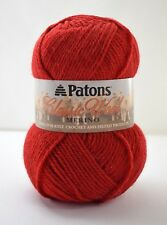 Patons Classic Wool Merino Medium Weight Yarn - 1 Skein Color Bright Red #00230