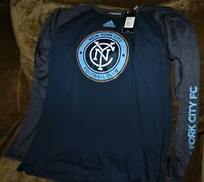 New York City FC LONG SLEEVE workout shirt MEN'S LARGE New with tags Adidas MLS
