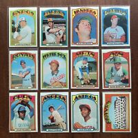 1972 Topps Baseball Cards Pick 'n Choose (#5 to #80) - EXMT - NRMT+