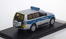 MITSUBISHI PAJERO POLIZEI GERMANY 2012 SILVER BLUE PREMIUM X PRD504 1/43 NOTRUF