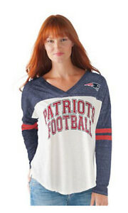 Officially Licensed NFL For Her Field Position Tee New England PATRIOTS~Large