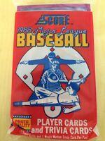 1988 Score Baseball Card Pack Mike Boddicker (Top) Kurt Stillwell (Back)