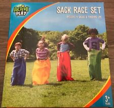 SACK RACE SET SUMMER ACTIVITY GAME 4 SACKS SPORTS DAY GIFT PRESENT