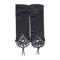 Elegant Embroidered Bridal Pierced Lace Wedding Gloves Formal Prom Dress Party