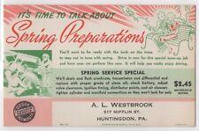 Dodge Plymouth Dealer Car Service Reminder Spring Preparations Postcard