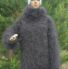 Mohair Sweater Longhair 100% Goat Down soft VERY WARM Turtle-neck Thick fluff