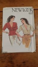 VINTAGE NEW LOOK LADIES BUTTON FRONT TOP PATTERN 6107 SIZE 8-18 FREE SHIPPING