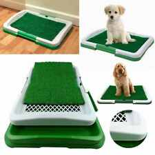 Pet Dog toilettes Mat Indoor Restroom Training Grass Fourcon Pad Loo Tray Large Puppy