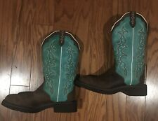 Justin Gypsy Womens 7B Raya Brown Turquoise Western Cowboy Boots Leather L2904