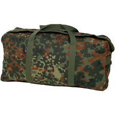 ARMY TOTE TOOL KIT BAG MILITARY SPORT DIY HOLDALL COTTON CANVAS FLECKTARN CAMO