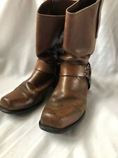 Vintage Sears Motorcycle Boots Sz 10D Brown Leather Men's