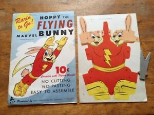 Hoppy the Flying Marvel Bunny Punch-Outs (Fawcett-Reed Assoc)-1940's RARE VF