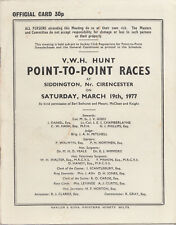 1977 Vale of the White Horse Hunt point-to-point races at Siddington programme