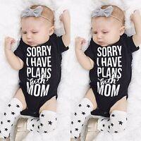 Cotton Newborn Kids Baby Boys Girl Romper Jumpsuit Bodysuit Outfit Clothes 0-18M