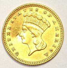 1888 Indian Gold Dollar Coin (G$1) - AU Details (Damage) - Rare Date!