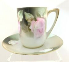 "UM. Vintage ""RS Prussia"" Germany Roses Cup and Saucer"