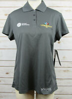 NWT SYPDER Indianapolis Motor Speedway Sport Graphics Gray Polo Shirt Women's L