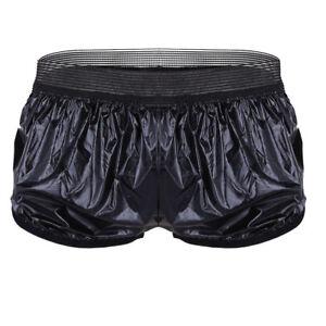 Men Quick Dry Boxer Shorts Underwear Leather Swimwear Trunk Lounge Bikini Briefs