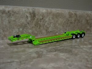 DCP 1/64 Lime Green Fontaine Tri-Axle Detachable Lowboy Trailer Toy